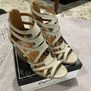 Qupid Strappy Heeled Sandals